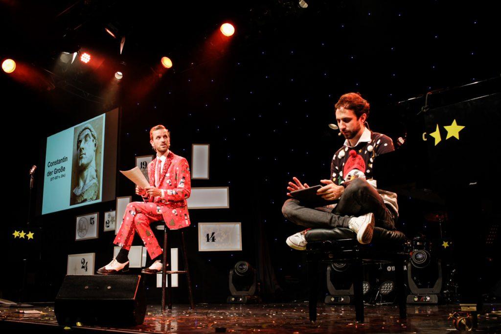 Die große Ass-Dur Weihnachtsshow - Bühnenbild - Ivan Ivanov - Tipi am Kanzleramt-Berlin - Musik & Comedy Show